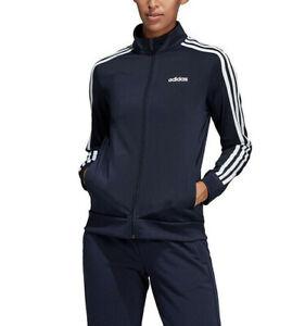 Adidas WOMENS ESSENTIAL 3-STRIPES TRICOT TRACK JACKET BLUE/WHITE DU0665