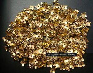 Bead caps 500 pcs antique GOLD plated 6-8mm filigree 4 leaf design caps FPB211