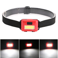 COB LED Headlamp Headlight Head Lamp Light Torch Flashlight Portable 3 Modes AAA