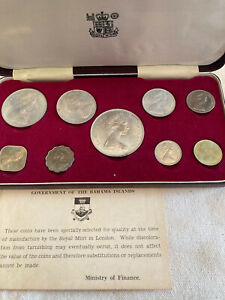 1966 Bahamas Proof Set plus COE      9 Coin Set  4 Silver Lot 3AB