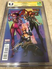 A-Force 1 CGC 9.2 SS Campbell Variant  All Female Avengers Danger Girl Homage