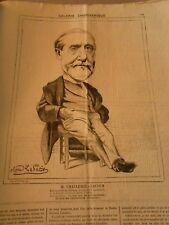 Caricature 1874 - Galerie Charivarique M. Challemel Lacour