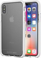 Tech21 iPhone XS & X Evo Check Silicone Rubber Gel Case Cover Clear/White