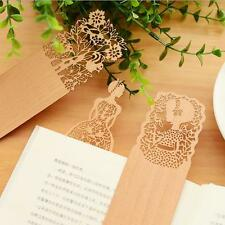 2PCS Bookmark Delicate Hollow Out 2016 Wood bookmarks Yellow Cute For books