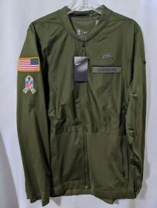 NWT$110 MENS NIKE Los Angeles Chargers SALUTE TO SERVICE FULL ZIP HYBRID JACKET