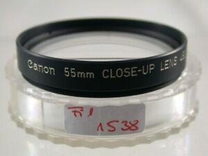 Original CANON Nahlinse Close-up Lens Objektiv Filter E55 55 55mm Japan 1538/20