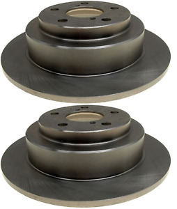 SET OF 2 Rear Disc Brake Rotors ACDelco Advantage 18A396A SC