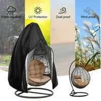 Swing Hanging Egg Chair Cover Wicker Stand Hammock Patio Outdoor Protect zipper