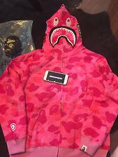 Bape Camo shark hoodie pink US Size Medium