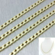 "Men's Women's Modern 14k Solid Yellow Gold 23"" Cuban Curb Necklace Chain 13.7g"