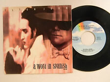 Elton John 45 w/ps A WORD IN SPANISH / HEAVY TRAFFIC~Mca VG++