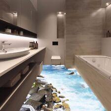 3D Removable Beach Stone Floor Wall Sticker Mural Decal Vinyl Art Room Home