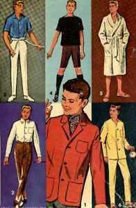 Doll Clothes Pattern 2899 Ken Alan Andy Ben Casey Don Dr Kildare  Captain Action