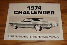 1974 Dodge Challenger Illustrated Facts & Feature Manual Brochure 74