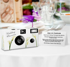 10 pack Personalized Calla Lilies Disposable Camera, wedding camera