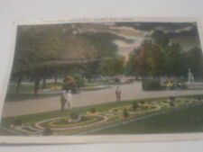 Postcard Showing  view Of  Flower Bed Victoria Park London Ontario Canada 1920/s