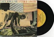 "EARTH, WIND & FIRE - SYSTEM OF SURVIVAL - RARE 7"" 45 PROMO RECORD w PIC SLV 1987"