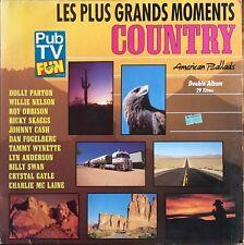 Les Plus Grands Moments Country (J. Cash/D. Parton/R. Orbison)- 2 Vinyles LP 33T