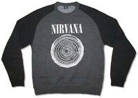 Nirvana Vestibule Heather Grey Crew Neck Sweatshirt New Official Band Merch