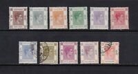 Hong Kong stamps #154 - 164, missing a couple, mint and used, SCV  $46.85