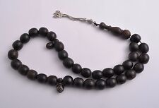 Antique black coral-worry beads-komboloi strand