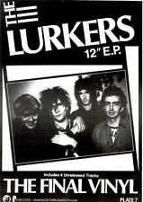 24/3/84pg18 Extended Play Single Advert 7x5 The Lurkers, The Final Vinyl