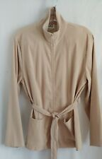 Clio Sueded Polyester Full Zip Unlined Tie Jacket L