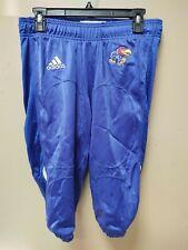 Adidas New University of Kansas Jayhawks Blue Football Pants Climacool Sz Large