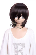 W-10-4 Marron Brown 33cm cosplay perruque wig perruque courte cheveux anime manga