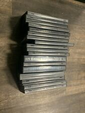 19 DVD Cases Lot Black Multi Season DVD Case Single Disc USED  Condition Empty