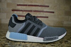 NEW Adidas Clear Blue NMD R1 S79159 Size 14 Men Grey Black