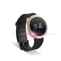Bluetooth Fitness Tracker Bracelet Schrittzähler Pulsmesser für Samsung Huawei