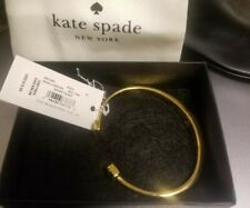 KATE SPADE jewlery ($78) in gift box Hinged Bangle Bracelet Gold & black accent