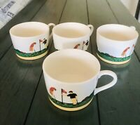4 New Christopher Stuart Optima Fairway 6oz Coffee Cups Golf Flags Player House