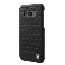 Bmw Faceplate Hexagon Leather compatibile con Samsung G955 S8 Black -