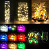 100 LED BATTERY OPERATED MICRO SILVER WIRE STRING FAIRY PARTY XMAS WEDDING LIGHT