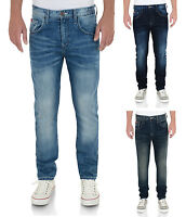 Lee Cooper Jeans Men's New Vintage Faded Denim Pants Straight Slim Bootcut Fits