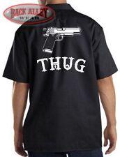 THUG Mechanics Work Shirt ~ Gangsta Thug Life ~ Gun Gangster ~ BAD ASS OUTLAW