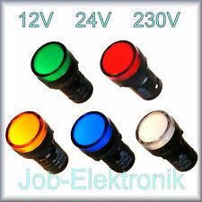 LED Leuchtmelder 22mm Ø Kontrollleuchte Signalleuchte  Signallampe 12V 24V 230V