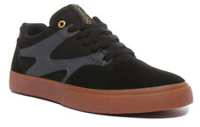 Dc Shoes Kalis Vulc Mens Suede Mesh Trainers In Black Grey Size UK 6 - 12