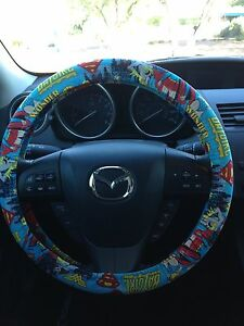 Wonder Woman, Batgirl, Supergirl Steering Wheel Cover
