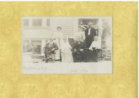NY Middletown 1906 rare RPPC real photo postcard GROUP OF ELDERS New York