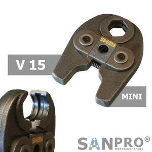 REMS MINI Pressbacke V15 Presszange Profil V 15 - Z.B. f. Viega Kupfer/Edelstahl