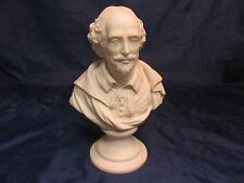"Antique Parian Porcelain SHAKESPEARE Bust 8""  With Socle Probably Copeland"