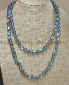 """Natural 6mm Gray Gleamy Rainbow Moonstone Round Gems Beads Necklaces 16-64"""""""