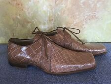MAURI Genuine ALLIGATOR SHOES Size 10 Tan M COLLECTION Made in Italy