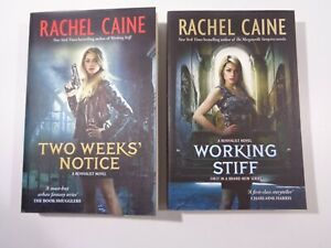 A Revivalist Book Series 1-2 by Rachel Caine Working Stiff + Two Weeks Notice