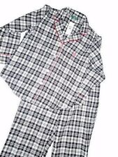 POLO Ralph Lauren PAJAMA Pajamas sleepwear set Flannel Black White LARGE L