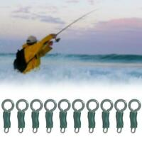 10Pcs Strong Back Lead Clips with Locking Tube Carp Fishing Terminal Tackle