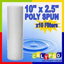"""12x 10""""x2.5"""" Poly Spun Filter Cartidges -your choice of 0.5,1,5,10,20,50 Micron-"""